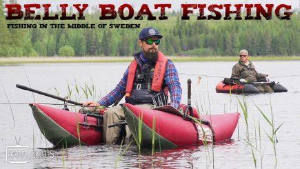 Mit Belly Boat und Streamer auf Hecht 11