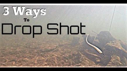 Drei Drop Shot Rig Varianten 4